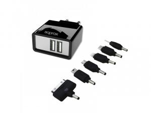 CARGADOR USB 2.1 APPROX TABLET/SMARTPHONE 1