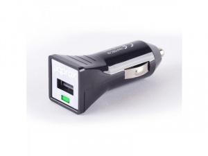 CARGADOR USB APPROX COCHE NEGRO 1