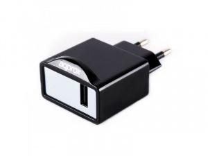 CARGADOR USB VIAJE APPROX PARED 1A NEGRO 1