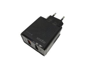 CARGADOR 2X USB APPROX PARED QC3.0 1
