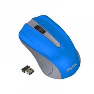 RATON APPROX WIRELESS APPWMLITEB GRIS/AZUL 1