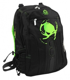 "MOCHILA KEEP OUT BK7G 15.6"" NEGRA VERDE 1"