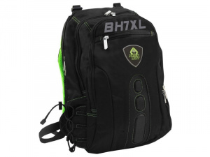 "MOCHILA KEEP OUT BK7GXL NEGRA VERDE 17"" 1"