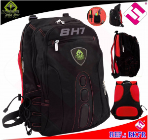 "MOCHILA KEEP OUT BK7R NEGRA ROJA 15.6"" 1"