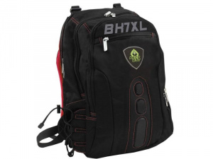 "MOCHILA KEEP OUT BK7RXL NEGRA ROJA 17"" 1"