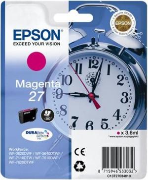 CARTUCHO EPSON 27 MAGENTA  WF3620SS 1