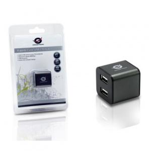 HUB USB 2.0 CONCEPTRONIC 4 PUERTOS CUBE GRIS 1