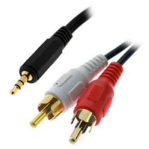 CABLE 3GO AUDIO JACK 3,5 M / 2XRCA M 2M 1