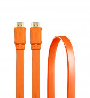 CABLE 3GO HDMI V1.4 PLANO 1.8M 24K NARANJA 1