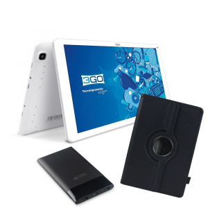 BUNDLE TABLET 3GO GT10K3IPS + TRAV5 + FUNDA NEGRA 1