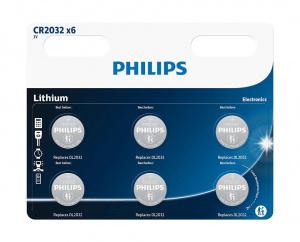 PILAS PHILIPS LITIO CR2032 3V PACK 3 1