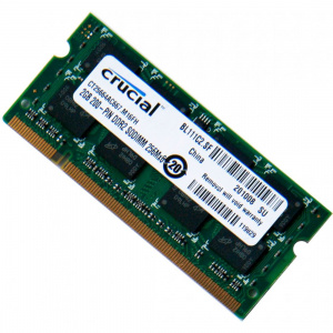 MEMORIA CRUCIAL SODIMM DDR2 2GB 667MHZ CL5 (PC2-53 1