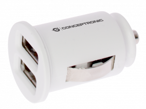 CARGADOR 2X USB POWER2GO COCHE BLANCO 1