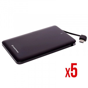 POWER BANK POWER2GO 2600 NEGRO PACK 5 1