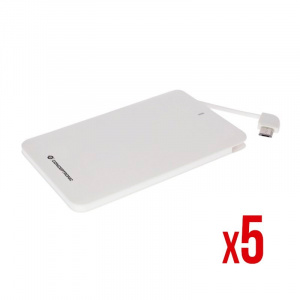 POWER BANK POWER2GO 2600 BLANCO PACK5 1