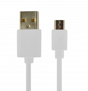 CABLE POWER2GO USB-A A MICRO-USB 1M BLANCO 1