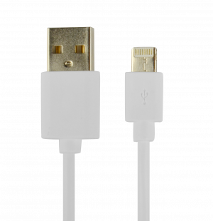 CABLE POWER2GO CONECTOR LIGHTNING A USB BLANCO 1