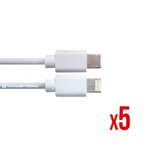 CABLE POWER2GO USB-A A TYPE-C 3.0 1M BLANCO PACK 5 1