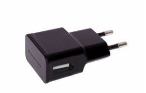 CARGADOR 5V USB POWER2GO PARED NEGRO 1
