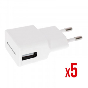 CARGADOR 5V POWER2GO PARED 1A BLANCO PACK 5 1