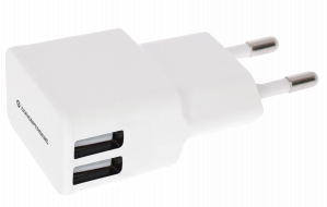 CARGADOR 5V 2XUSB POWER2GO PARED 2A BLANCO 1