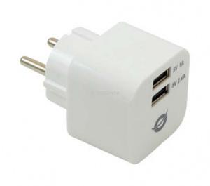 CARGADOR 2X USB CONCEPTRONIC PARED 3.4A 1