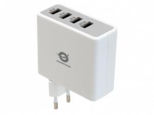 CARGADOR 4X USB CONCEPTRONIC PARED (3X1A,1X2.4A) 1