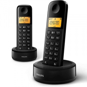 TELEFONO PHILIPS DUO D1602 NEGRO 1