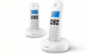 TELEFONO PHILIPS DUO D1612 BLANCO 1