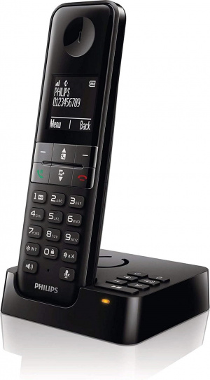 TELEFONO PHILIPS D4751 CONTESTADOR NEGRO 1