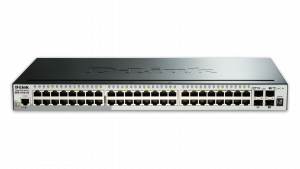 SWITCH D-LINK 48 PUERTOS 10/100/1000 RACK +4 SFP 1