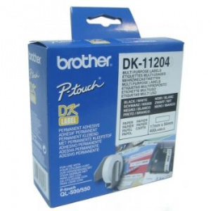 ETIQUETAS BROTHER DK11204 USO MULTIPLE 17X54 400UD 1