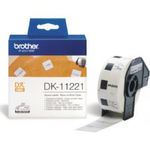 ETIQUETAS BROTHER 23X23MM  PAPEL 1000 UDS 1
