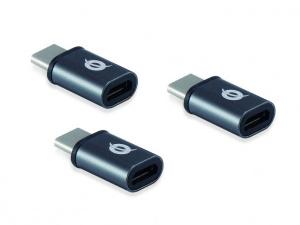 ADAPTADORES CONCEPTRONIC USB-C A MICROUSB PACK3 1