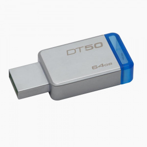 PEN DRIVE 64GB KINGSTON USB3.0 DATATRAVELER50 AZUL 1