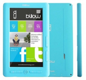 "E-BOOK BILLOW COLOR BOOK 7"" 4GB TFT LIGHT BLUE 1"