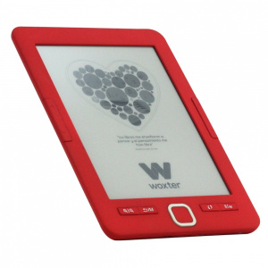 "E-BOOK WOXTER SCRIBA 195 6"" 4GB E-INK ROJO 1"