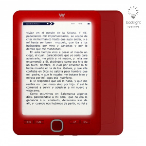 E-BOOK WOXTER SCRIBA 195 PAPERLIGHT RED 1