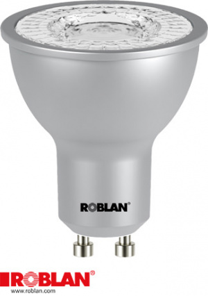 LED DICROICA ROBLAN SMD/7W/GU10/570LM/3000K/CA/100 1