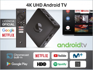 SMART TV ENGEL TV BOX 4K CHROMECAST+GOOGLE ASISTAN 1