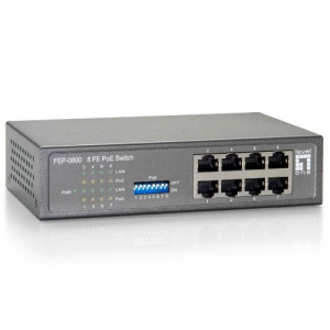SWITCH LEVEL ONE NO GESTION  8P 10/100 POE 90W 1
