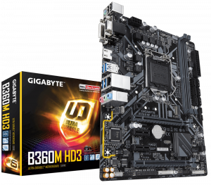 PLACA BASE 1151 GIGABYTE B360M-HD3 MATX/DDR4 1