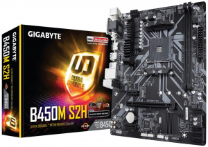 PLACA BASE AM4 GIGABYTE B450M S2H MATX/USB 3.1/HDMI 1