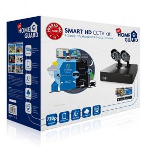 KIT VIDEOVIGILANCIA HOMEGUARD CCTV 720P 4CH+2 CAMA 1