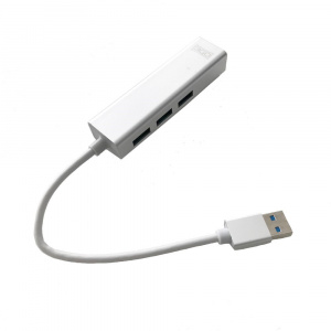 HUB USB 3.0 3GO 3P USB3.0+ETHERNET RJ45 10/100 1P 1