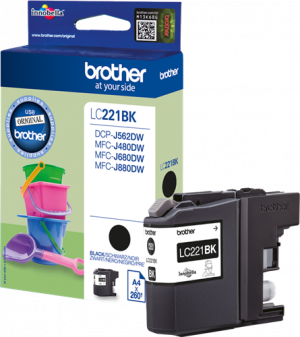 CARTUCHO BROTHER LC221 NEGRO 260PG 1