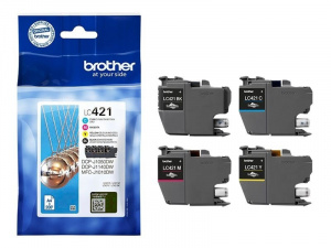 CARTUCHO BROTHER LC421 MULTIPACK 4  200PAG 1