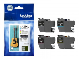 CARTUCHO BROTHER LC421XL MULTIPACK 4  500PAG 1