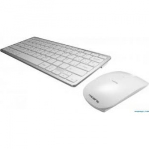 TECLADO + RATON TACENS WIRELESS BLANCO/PLATA 1