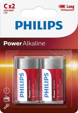 PILAS PHILIPS ALCALINA C/LR14 1.5V  PACK 2 1